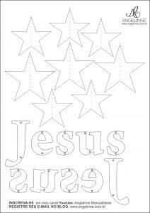 Pingente Jesus e Estrelas