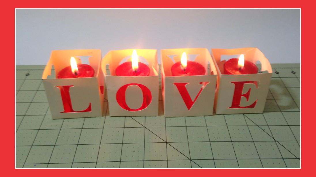 Decoração de Mesa de Natal - Caixinha com vela