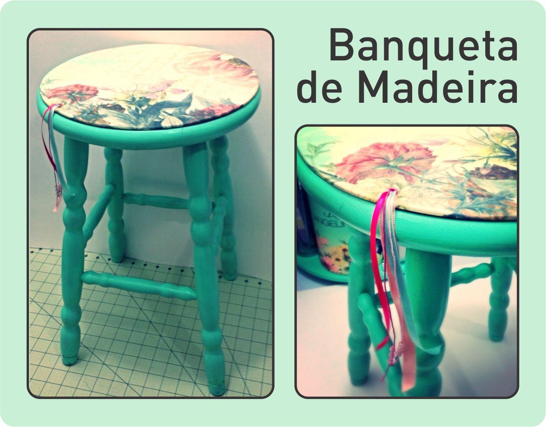Banqueta de Madeira Passo a Passo pintar e estofar #1CAF88 1330x1039