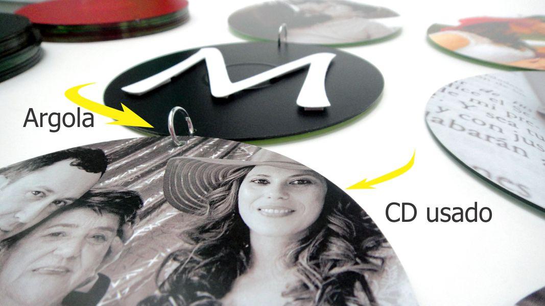Painel decorativo  com CDs usados