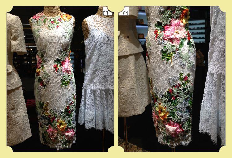 Vestido de Renda - Customizado com renda Guipir