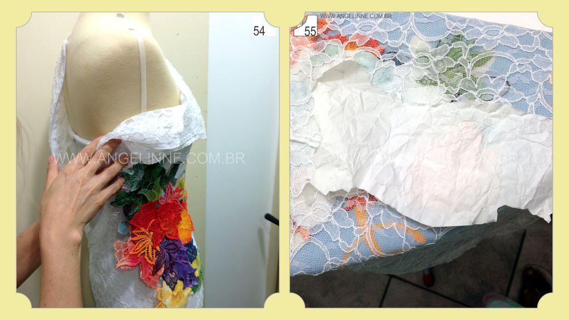 Vestido de renda customizado