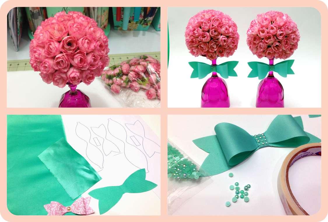Topiaria com Mini Flores 2 - Angelinne e12f51e16ef