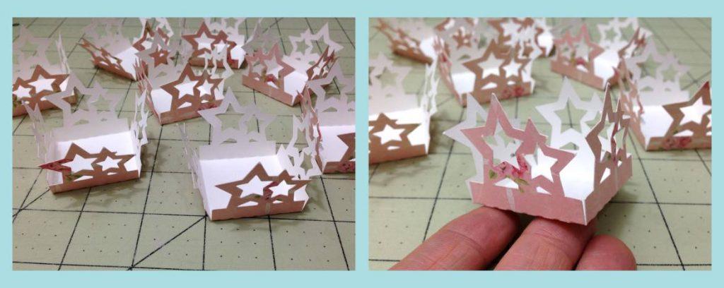 Forminhas de Doce em papel de Scrap