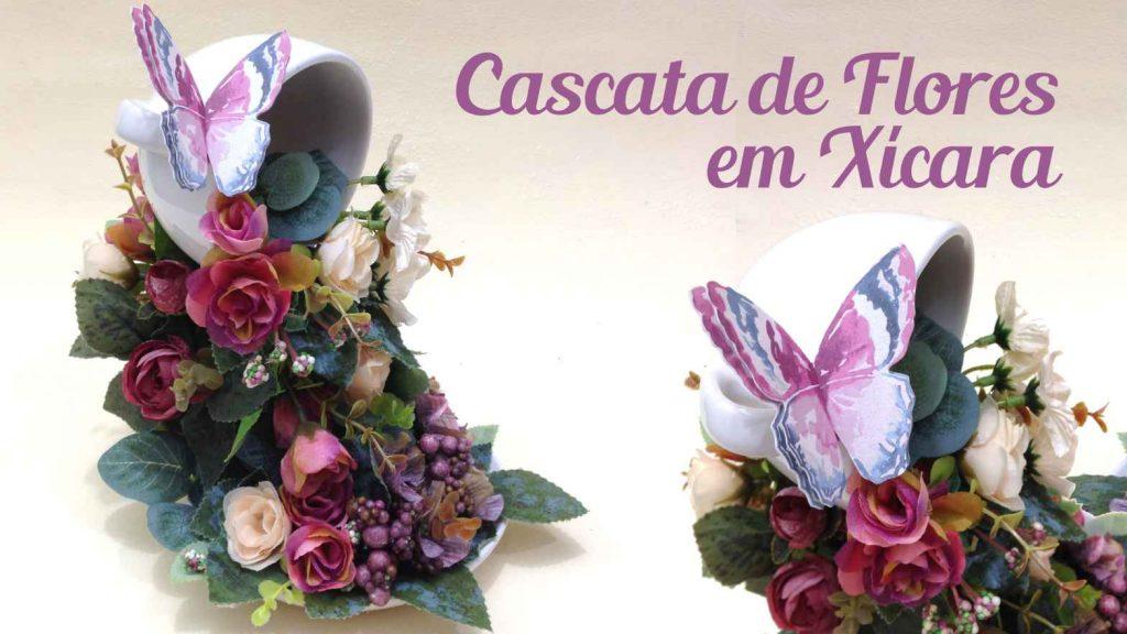 Cascata de Flores em Xícara