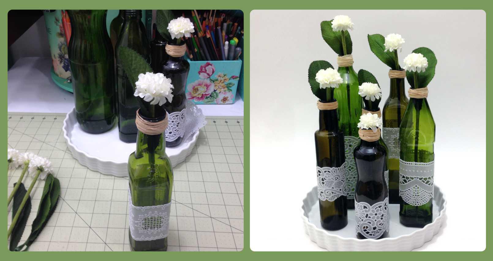 Reciclando garrafas de azeite - Como decorar reciclando ...