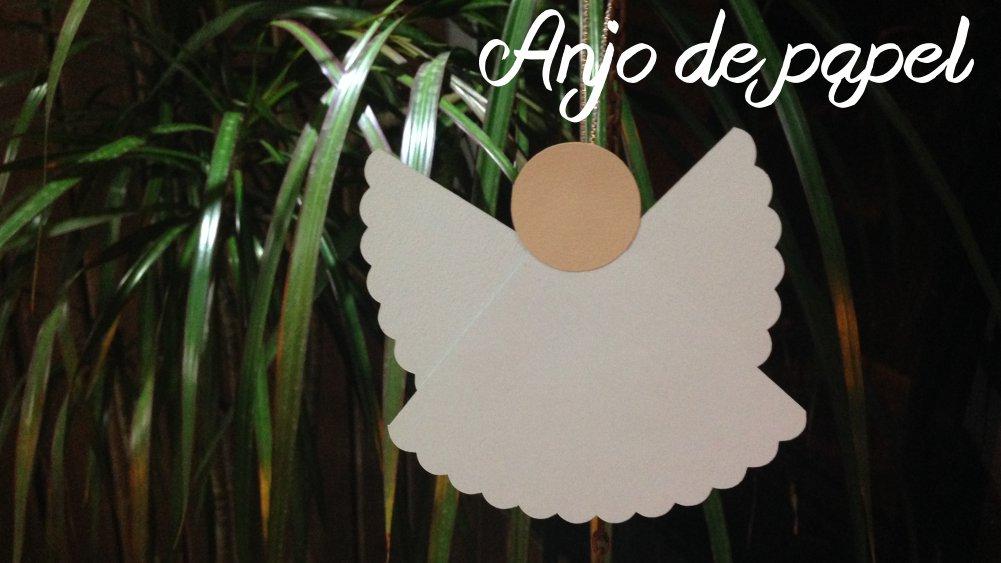 Molde Anjo de papel 1