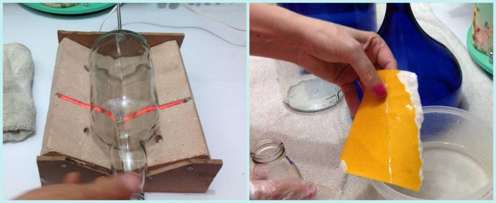 Vaso com garrafa de vidro 2