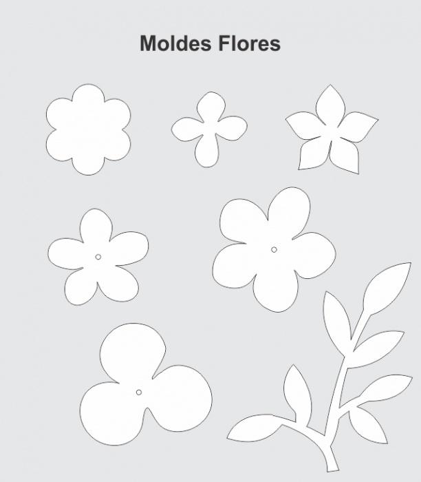 Moldes flores de papel scrapdecor