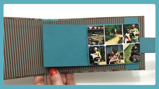 Cartão Cascata - Técnica de Scrapbook