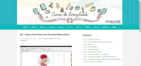 Plataforma curso de scrapbook