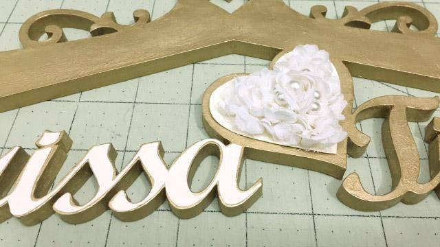 Cabide com nome da noiva