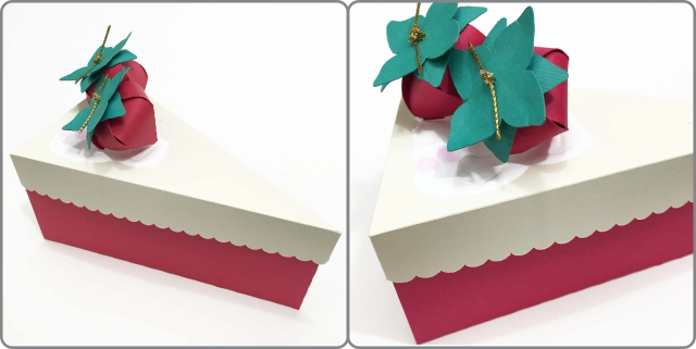 Fatia de bolo em papel 1