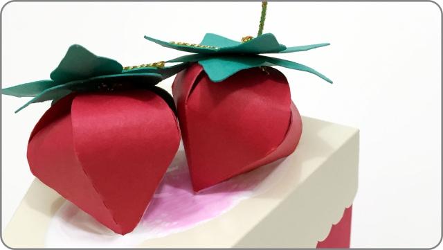 Fatia de bolo em papel 4