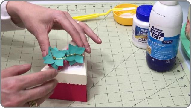 Molde fatia de bolo de papel