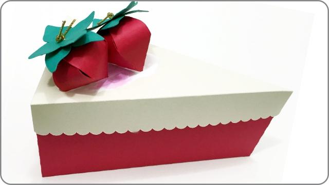 Fatia de bolo em papel