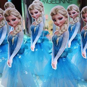 Molde Elsa para Tubete Tema Frozen