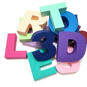 Molde letras 3d em papel