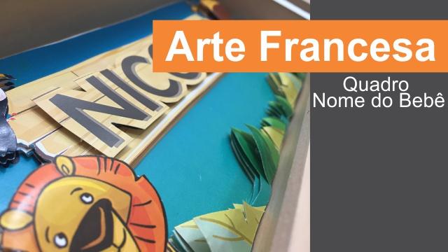 Arte Francesa - Quadro Nome do Bebê