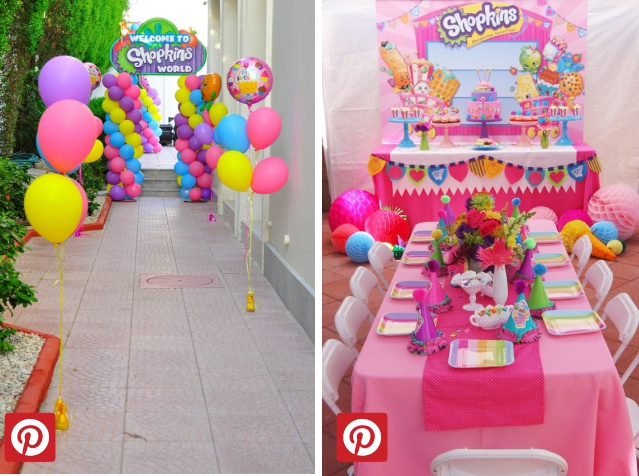 Decoração Infantil Tema Shopkins