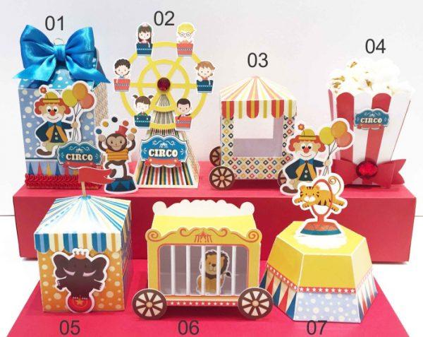 Moldes personalizados tema circo