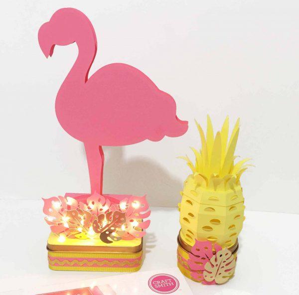 Molde Flamingo e Abacaxi