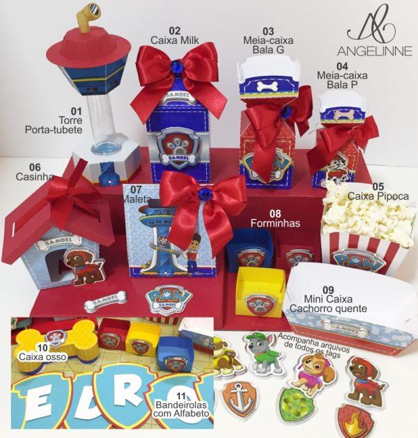 Kit de moldes Patrulha Canina