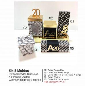 Kit 05 Moldes Clássicos + 06 Papéis digitais